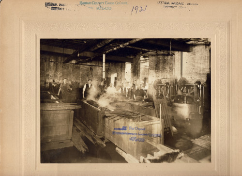 Photo of dye factory in operation.