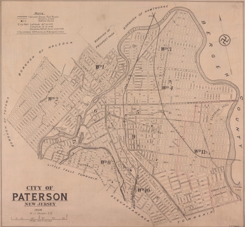Map of Paterson (1908)